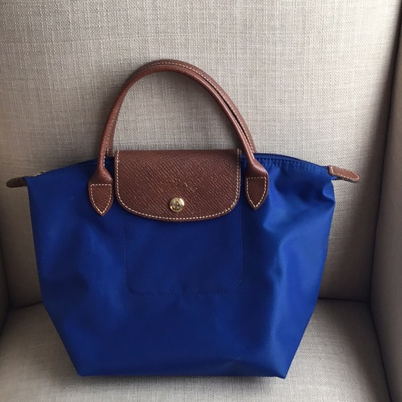 Longchamp Handbags - 1 HR SALE Longchamp Le Pliage Small Blue Tote